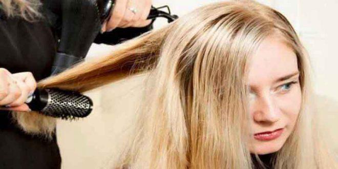 روش صحیح براشینگ و سشوار کردن مو در آرایشی بیست