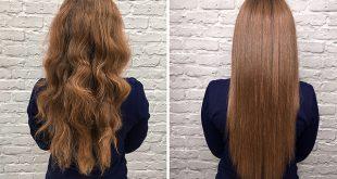 صاف کردن مو در ارایشی بیست