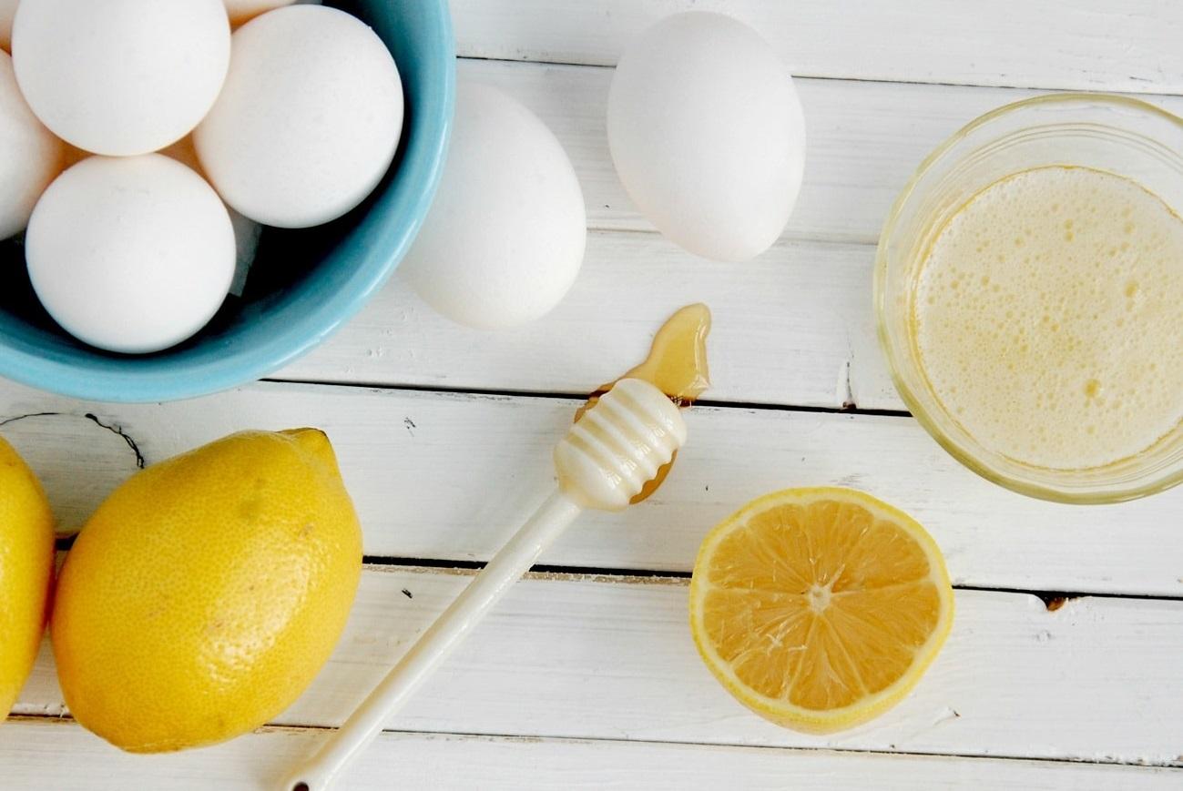 ماسک تخم مرغ و لیمو