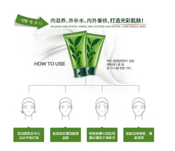 فوم پاک کننده چای سبز رورک روشن کننده
