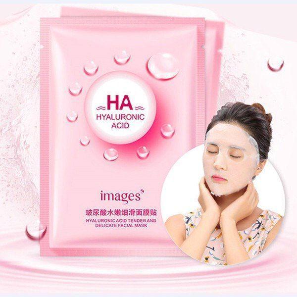 ماسک هیالورونیک اسید ایمیجز صورتی ابرسان پوست