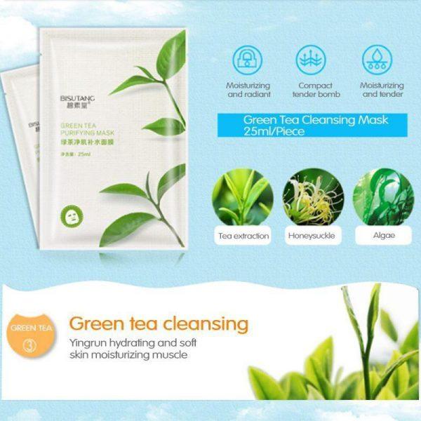 ماسک گیاهی چای سبز بیسوتانگ ترمیم کننده
